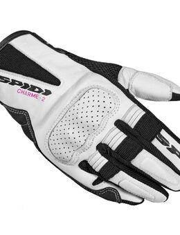 Charme 2 Black White Motorcycle Gloves S