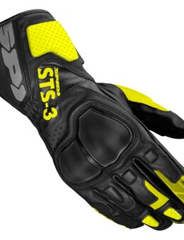 Sts-3 Black Fluo Yellow Motorcycle Gloves M