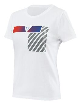 Illusion Lady T-Shirt White Dark Gray Red M