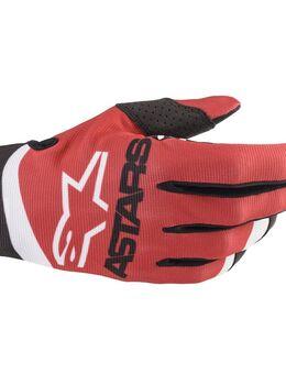Radar Gloves Red Matt Blue Neon M