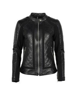 Kate Leather Soft Stretch Black Black Jacket XL