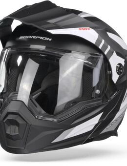 ADX-1 Lontano Matt White Black Adventure Helmet S