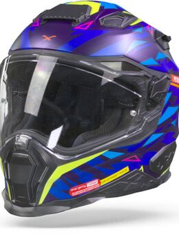 X.Wst2 Rockcity Blue Neon Matt Full Face Helmet 2XL