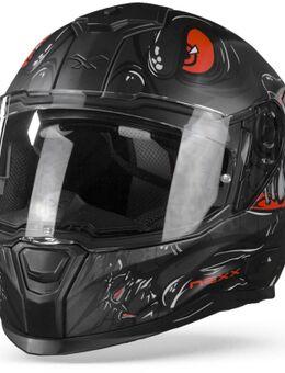 SX.100R Abisal Zwart Rood Mat XS
