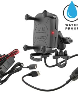 Tough-Charge™ X-Grip® Waterproof Wireless Charging Motorcycle Mount