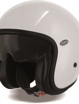 Vintage U8 Jet helm, wit, afmeting S