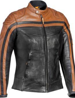 Pioneer Dames Motorfiets Leren Jas, bruin, afmeting S voor vrouw