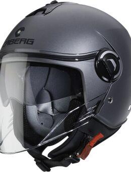 Riviera V4 Mat Jet Helm, zwart-grijs, afmeting XL
