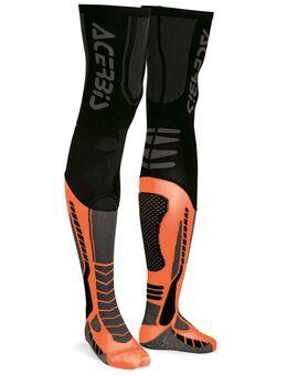 X-Leg Pro Sokken, zwart-oranje, afmeting L XL