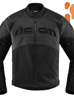 Contra2 geperforeerd motortextiel / leren jas, zwart, afmeting XL
