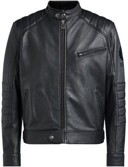 Riser Motorfiets lederen jas, zwart, afmeting XL