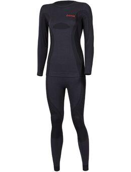 Merino Dames Functionele Ondergoed Set, zwart, afmeting XL 2XL voor vrouw