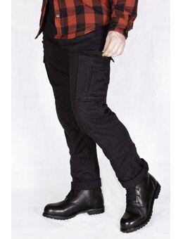 Harlow Motorfiets textiel broek, zwart, afmeting 2XL