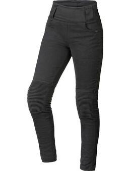Dames motorfiets legging, zwart, afmeting 34 voor vrouw