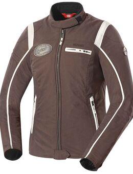 Ridley Dames textiel jas, wit-bruin, afmeting XL voor vrouw