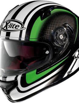 X-661 Slipstream N-Com Helm, zwart-wit-groen, afmeting XL
