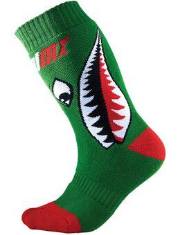 Pro MX Bomber Kinderen Motocross sokken, rood-groen