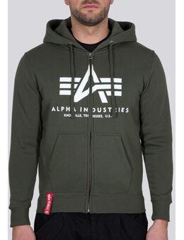 Basic Zip Hoodie, groen, afmeting XL
