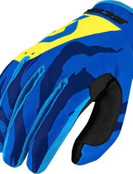 350 Race Motorcross handschoenen 2017, blauw-geel, afmeting 2XL
