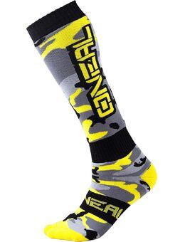 O'Neal Pro MX Hunter Motorcross sokken, zwart-geel-zilver