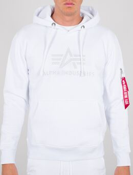 3D Logo Hoodie, wit, afmeting XL