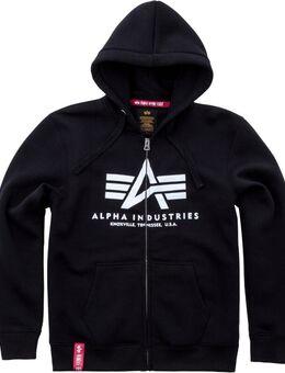 Basic Zip Hoodie, zwart, afmeting XL
