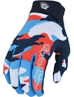 Air Formula Camo Motorcross handschoenen, wit-blauw-oranje, afmeting XL