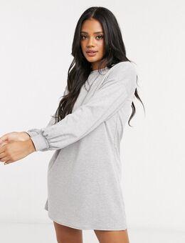 Mini-jurk in gemêleerd grijs
