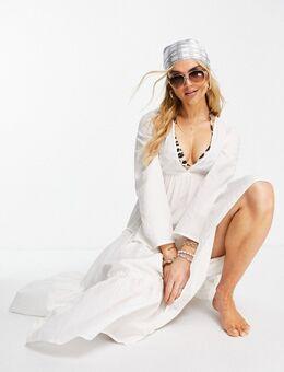 Salty Blonde Wander - Lange strandjurk in wit