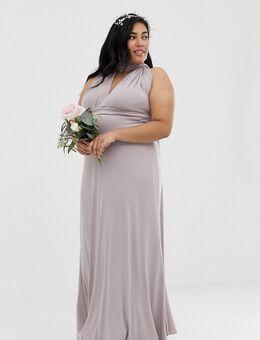 Exclusieve lange multifunctionele bruidsmeisjesjurk in grijs