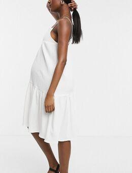 Midi cami-jurk in wit