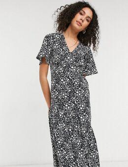 Midi jurk met gelaagde zoom en sterrenprint-Verschillende kleuren
