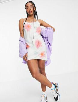 Mia - Mini-jurk van organisch katoen met camibandjes en bloemenprint-Veelkleurig
