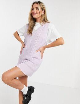 Spencer-jurk met kabels in lila-Paars