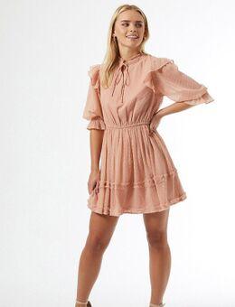 Petite - Dobby mini-jurk in roze