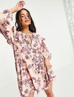 Sunbaked - Mini swingjuk met bloemenprint in roze