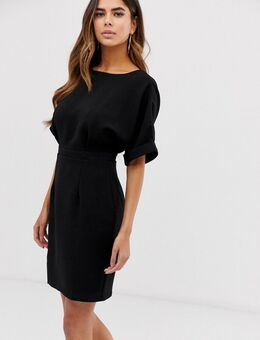 Korte wiggle-jurk in zwart