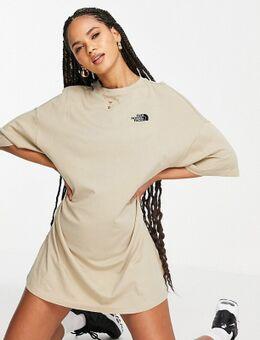 Jersey T-shirtjurk in beige, exclusief bij ASOS-Neutraal