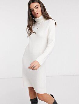 Trui-jurk met col in wit