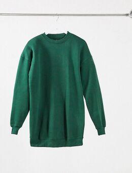 Oversized sweaterjurk in groen