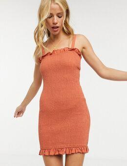 Cha Cha - Mini-jurk in roestkleur-Oranje