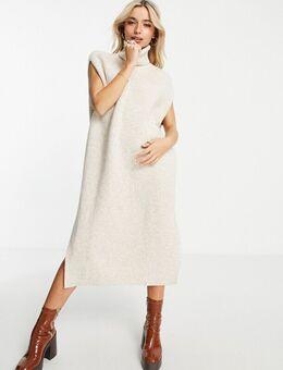 Gebreide jurk in gebroken wit