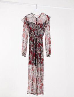 Youth - Midi-jurk met lange mouwen in meerdere kleuren-Multi