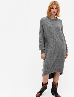Meeko - Gebreide cocoon trui jurk in grijs