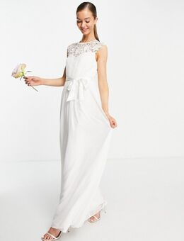 Bruidskleding - Lange jurk met kanten details in ivoor-Wit
