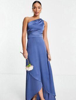 Bruidsmeisjes - Maxi-jurk met blote schouder in antraciet-Grijs
