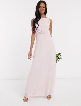 Bruidsmeisjesjurk met gedrapeerde achterkant van chiffon-Roze