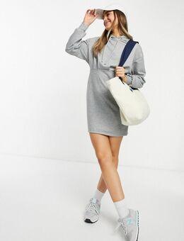 Aansluitende hoodie-jurk in gemêleerd grijs