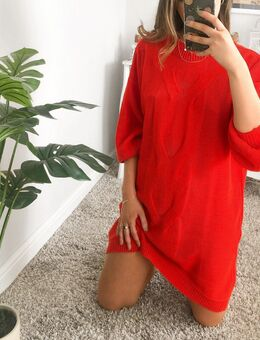 Grofgebreide mini-jurk in oranje