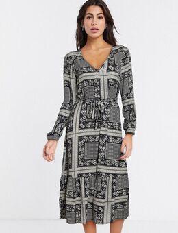 Boho - Midi-jurk met sjaalprint-Multi
